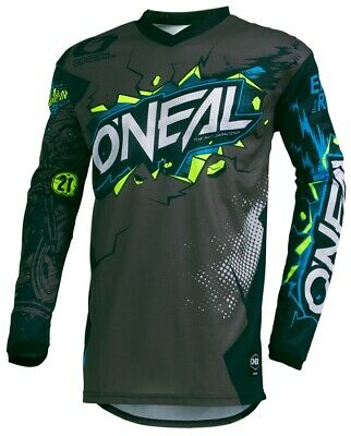 ONeal Element Villain Jersy Crosshirt MX Motocross Motorrad Cross grau