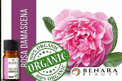 Rose Otto Essential Oil Pure & Natural Aromatherapy 10ml Organic