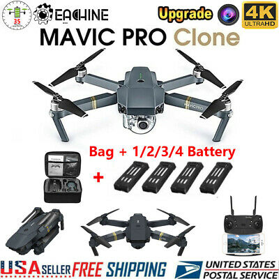 Drone x pro 2.4G Wifi APP FPV 4K HD Camera  Foldable Wide-Angle RC Quadcopter US