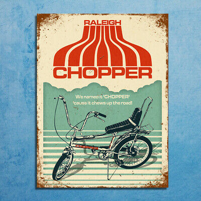 Metal Signs retro vintage style Raleigh Chopper bike decorative wall plaques