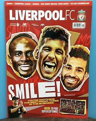 October 2019  Liverpool FC Magazine  Super Cup Final Pictures