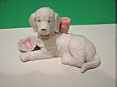 LENOX MY GOLDEN VALENTINE PUPPY sculpture - NEW in BOX with COA - February Dog