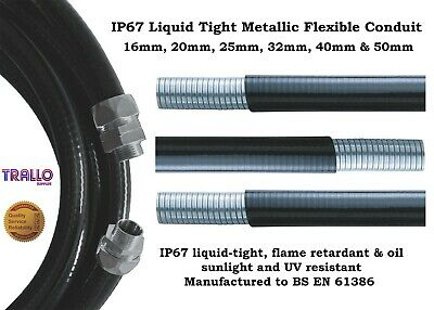 Anaconda Liquid Tight Flexible Stainless Steel Conduit IP67 - 20mm, 25mm & 32mm