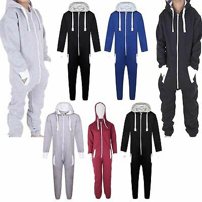 Girls Boys Hooded Zip All In One 1Onesie Children Kids Jumpsuit Junior Playsuits