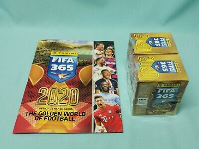 Panini Fifa 365 2020 Sticker Sammelalbum +  2 x Display / 100 Tüten Album