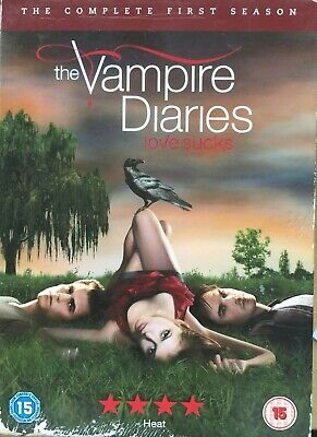 Vampiro Diaries Temporada 1 DVD Caja Set Eeuu Teen Horror TV Serie Primera