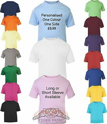 Baby And Toddler T Shirt  Plain Or Personalised Sizes Up To 3 Years