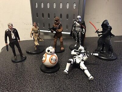 DISNEY STORE Star Wars The Force Awakens Deluxe Figure Play Set of 6 lot