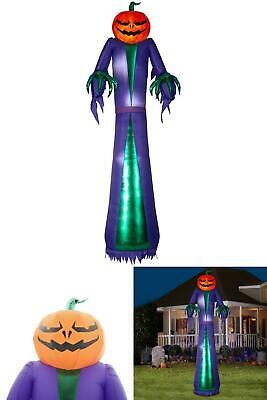 12 ft. Inflatable Projection Jack O Lantern Grim Reaper Halloween Airblown Decor