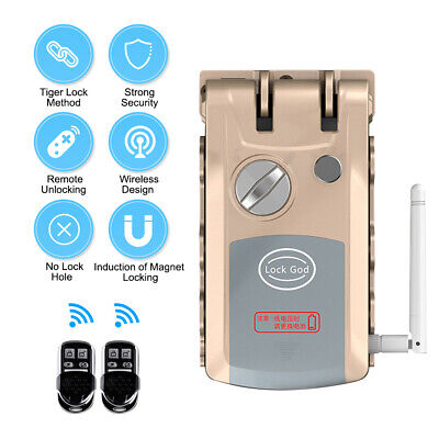 Anti-theft Security Home Door Lock Remote Control Switch Motor Automatic US E8E2