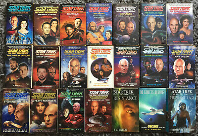 21 x Star Trek The Next Generation Paperbacks ~ Bundle | Bulk Lot #1