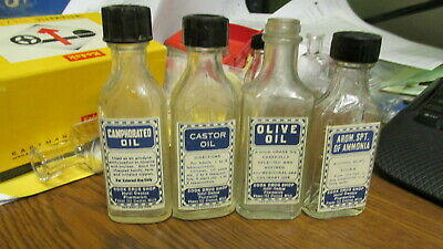 Owosso, Mich. Cook Drug Shop Hotel Owosso 4 diff medicine bottles pharmacy store