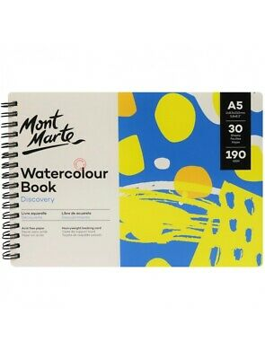 Mont Marte Discovery Watercolour Book A5 30 Sheets 190gsm