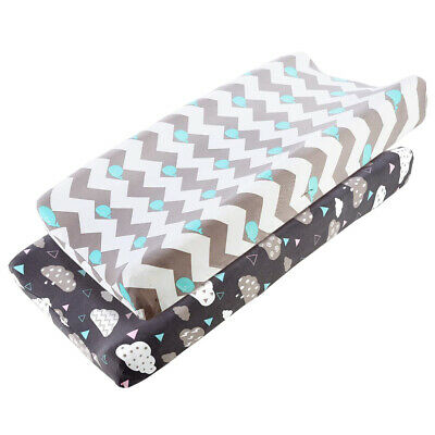 2Pcs/Pack Stretch Fitted Changing Pad Cover Stretchy Changing Table Pad Covers