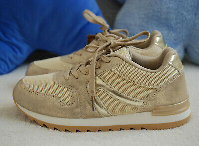 BNWT CHIKA 10 Kids Girls DREAM Gold Glitter Sparkling Luxury Trainers Shoes 2JNR