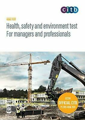latest CITB 2019 CSCS Card Test Book Health Safety & Environment for managers