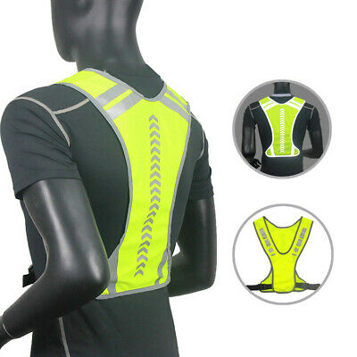 Adjustable Outdoor Motorcycle Safety Reflective Vest Running Cycling Jacket