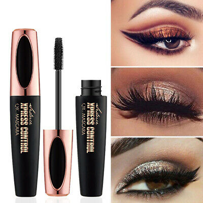 HOT 4D Silk Fiber Eyelash Mascara Extension Makeup Black Waterproof Eye Lashes