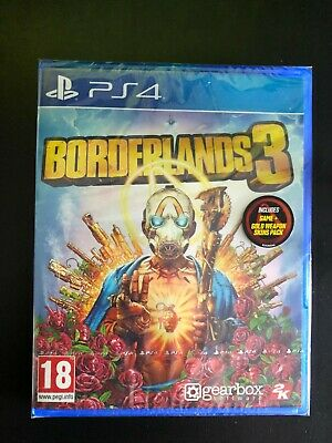 Borderlands 3 (PS4) with Gold Weapon Skin Pack New & Sealed Immediate Dispatch