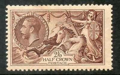GB KGV 2s.6d. Chocolate-Brown SG450 SEAHORSES George V 1934 Mint Stamp