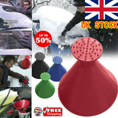 Magical Car Windshield Ice Snow Remover Scraper Tool Cone Shaped Round Funnel HU
