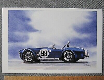 carte Shelby Competition COBRA 427 Racing OLD BLUE card by BILL NEALE