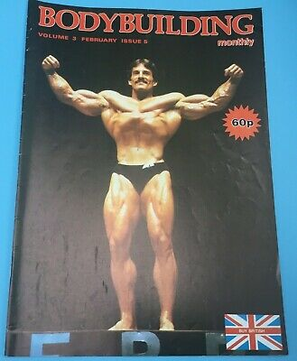 BODYBUILDING MONTHLY - February 1980 - Mike Mentzer cover