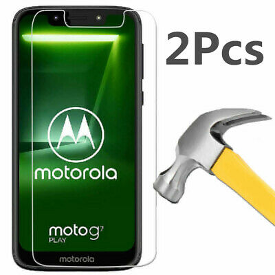 2 Tempered Glass Screen Protector For Motorola Moto G7 Play G7 Plus Power Supra
