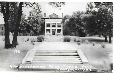 RPPC HASTINGS MN COTTAGE STATE HOSPITAL #488 Posted Message Real Photo Postcard