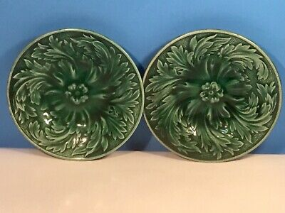 Butter Pat Beautiful Antique Majolica Butter Pat
