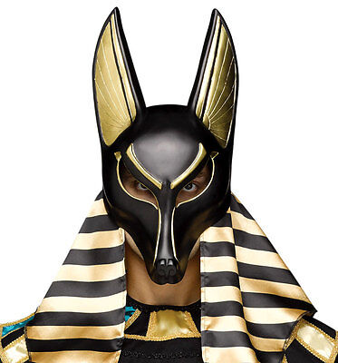 Mens Anubis Egyptian God of the Dead Mask Fancy Dress Halloween Costume Masque
