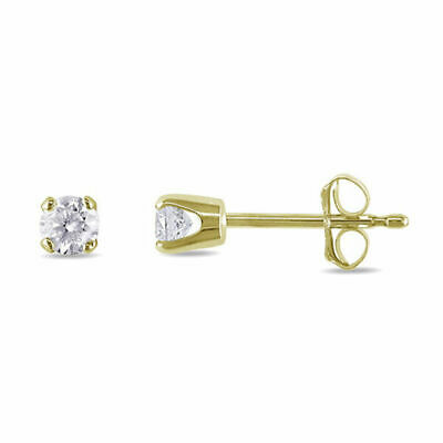 1.5 mm Diamond Tiny Stud Earrings ~14k Yellow gold ~ Gift box incl.
