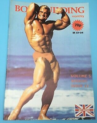 BODYBUILDING MONTHLY - August 1982 - Tom Platz Front and back cover