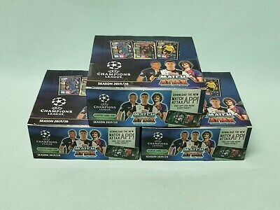 Topps Match Attax Champions League 2019/2020 3 x Display / 90 Booster 19/20