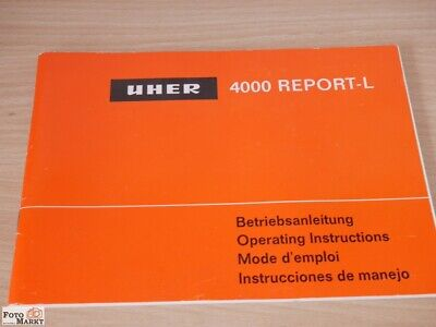 Uher 4000 Report L Instruction Operating Reel to