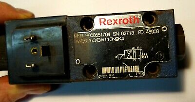 Rexroth R900551704 Hydraulic Directional Control Solenoid Valve body unit