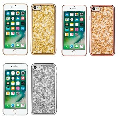 Apple iPhone 8 Glitter Flakes Chrome Cute Shiny Case Cover