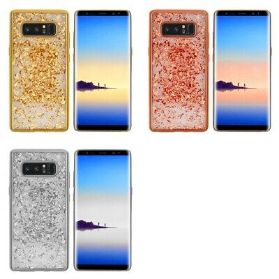 Samsung Galaxy Note 8 Glitter Flakes Chrome Cute Shiny Case Cover