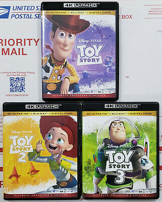 TOY STORY TRILOGY 4K Ultra HD Blu-ray 7-Disc Ultimate Collector's Edition 1 2 3