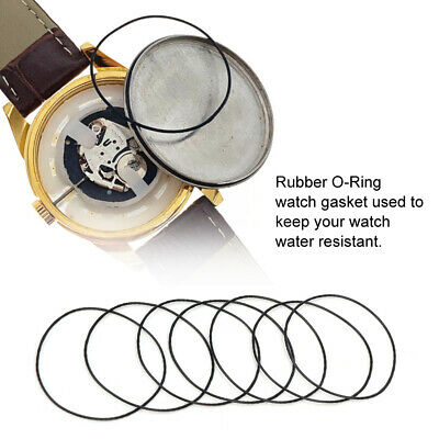 Professional 200 Pcs O-Ring Waterproof Rubber Seal Watch Back Cover Seal Gaskets