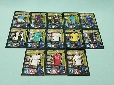 Topps Match Attax Champions League 2019/2020 13 x Limited Edition 19/20