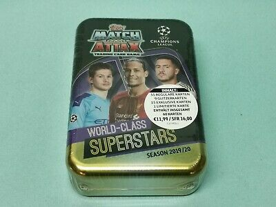 Topps Match Attax Champions League 2019/2020 Mega Tin Box World Class Superstars