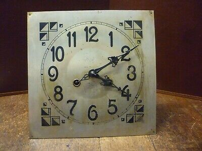 Original Art Deco Striking Wall Clock Spring Driven Movement+Dial (89)