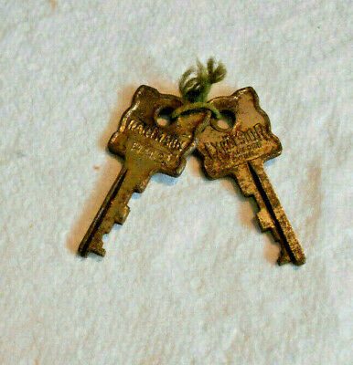 Lot of 2 Vintage Old Original Excelsior Hartmann # H242 Luggage Suitcase Keys