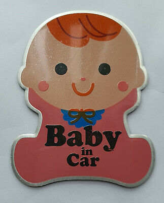 PLAQUE STICKERS Emblème Baby in Car / NEUF