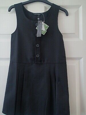 Girls Black School Pinafore Dress age 5/6yrs BNWT