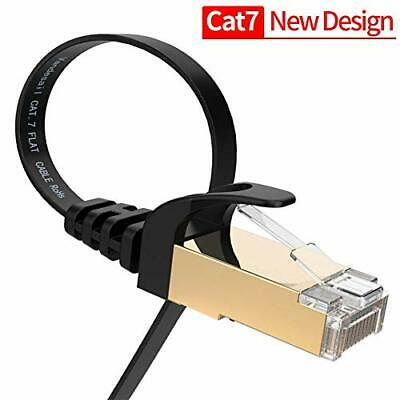 VANDESAIL Ethernet Cable 2m,CAT 7 Network Internet Patch Cord with LAN RJ45 Gold
