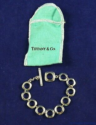 Tiffany & Company Sterling Silver 925 Square Cushion Toggle Bracelet