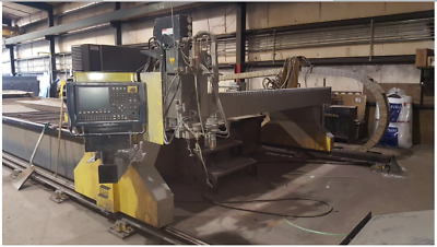 ESAB Hydrocut Plasma and Water Jet combination 60,000 psi 12' x 40' table. 50 HP
