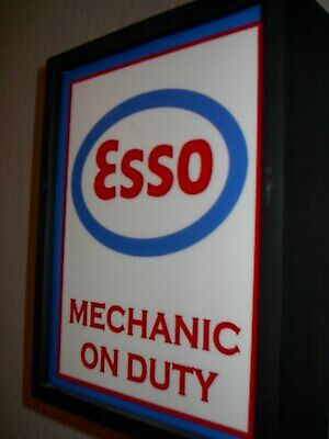Esso Oil Gas Station Garage Mechanic Man Cave Lighted Advertising Sign